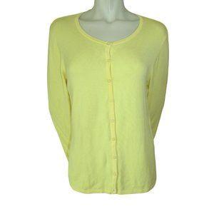 Danier Yellow Rayon/Nylon Blend Cardigan Large